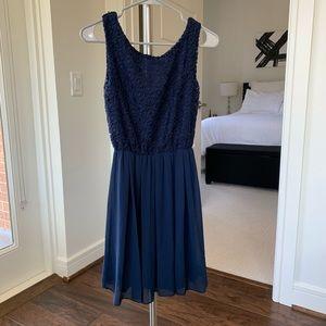 Navy Blue Dress - Size Small